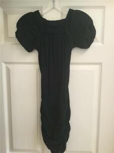 Isabel-Marant-Black-Short-Sleeve-Tunic-Top-Size-36