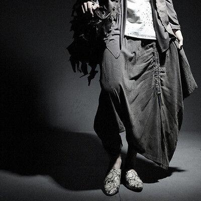 ByTheR Men's Fashion Vintage Khaki One Size Loose Baggy Pants P000BDDU AU