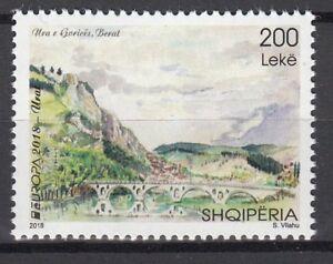 ALBANIA 2018 EUROPA CEPT.BRIDGES.1 stamp. MNH