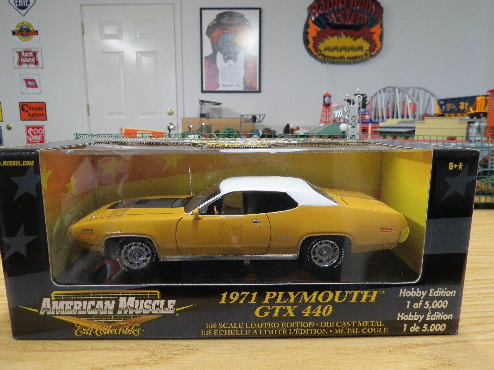Ertl American Muscle Hobby Edition Butterscotch 1971 1971 1971 Plymouth GTX 440+6, New 7e7c4c