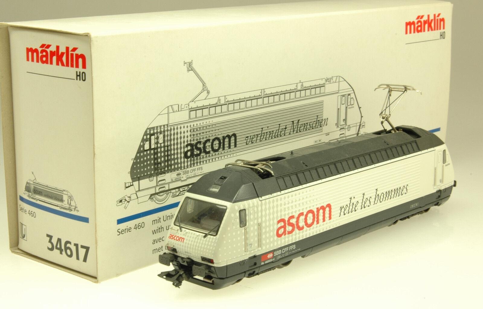 (7 041) Märklin h0 AC e-Lok re 4 4 460 033-4 SBB Ascom Delta (arti. n. 34617)