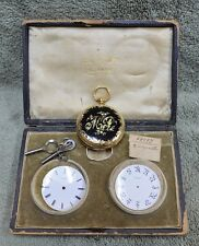 Henry Capt Geneve 18K Yellow Gold Pocket Watch Maria Peebles Athens, GA 3 Faces