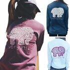 Women Elephant ivory ella T-Shirt Pullover Long Sleeve Top Blouse Sweater Casual