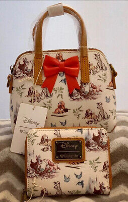 Authentic Loungefly Lady The Tramp Crossbody Bag Wallet Set Ebay
