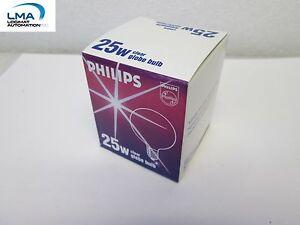 PHILIPS-25W-CLEAR-GLOBE-BULB-LIGHT-LAMP-120V-NEW
