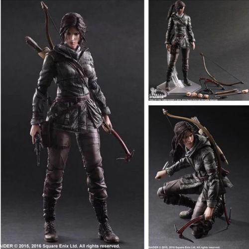 Play Arts Kai Rise Of The Tomb Raider Lara Croft PVC Action Figure Nuovo In Box