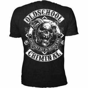 OLDSCHOOL-CRIMINAL-Patch-Shirt-Groesse-L-XL-XXL-NEU
