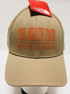 "THE NORTH FACE ""Classic Sport"" Baseball Hat Adjustable Size Ball Cap Khaki NWT"