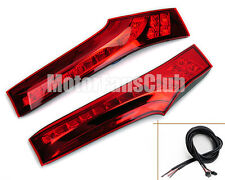 New Red Lens LED Rear Pillar Lights For Honda Jazz Fit Brake Tail Lamp 2014 2015