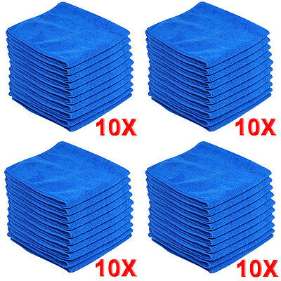 40X Large Microfibre Cleaning Auto Car Detailing Soft Cloths Wash Towel Duster