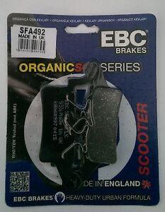Yamaha HW125 / HW150 Xenter (2012 to 2018) EBC Organic FRONT Brake Pads (SFA492)
