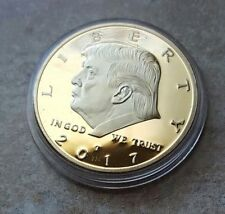 2017 DONALD TRUMP Liberty US President Flag Stamp Putin Poster Gold Plated COIN