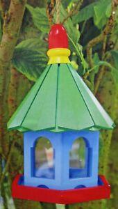 Details About Unusual Novelty Wooden Hanging Bird Feeder Garden Decor Outdoor Feeding Station
