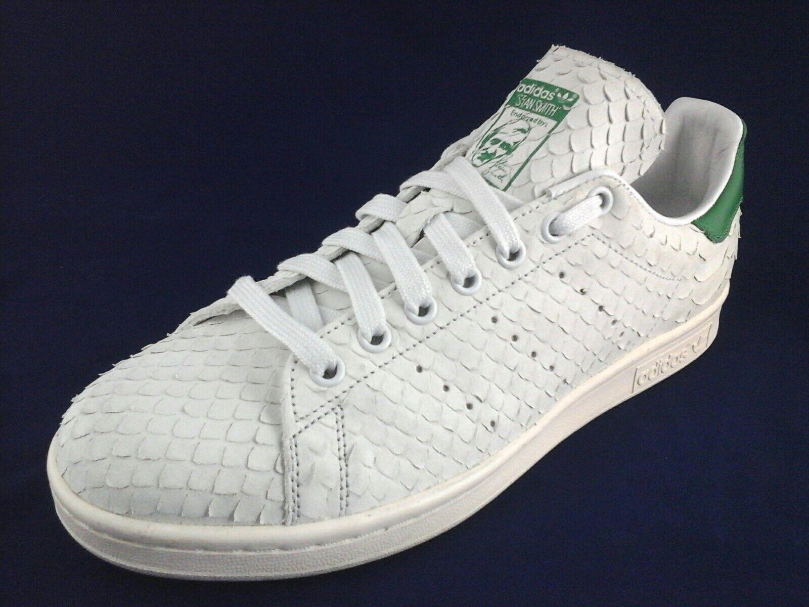 Adidas Stan blanco Smith Mujer Sneakers Serpiente blanco Stan / Verde s76665 US 9 / 3 Yeezy zapatos nuevos para hombres y mujeres, el limitado tiempo de descuento dcd4a2