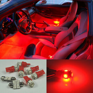 Image Is Loading Red 7 Lights Smd Led Interior Package Kit