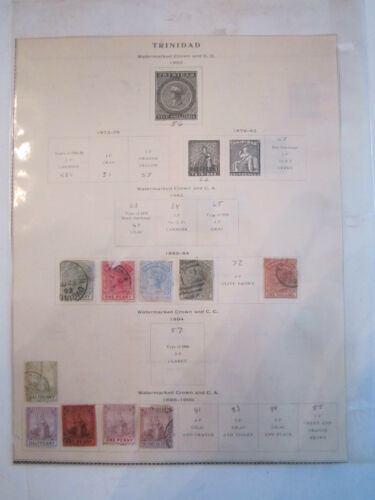 1859 1918 TRINIDAD STAMPS HINGED 24 STAMPS IN TOTAL SOME ARE MINT