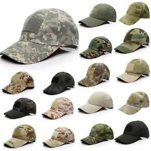 9f129d061bc5b1 Image is loading UNISEX-Military-Army-Combat-Peaked-Caps-Summer-Baseball-