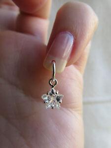 Image Is Loading Silver Zirconia Star Nail Dangle Charm Body Jewellery