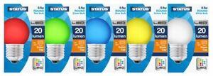 Boite-De-5-Melange-Couleur-LED-Vis-Edison-Casquette-Rond-Ampoules-0-5W-20-Lumen
