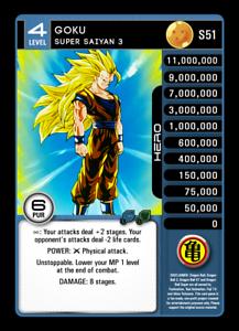 Super Saiyan 3 LV4 Dragon Ball Z DBZ TCG Showdown Set 14 Proxy Foil S51 Goku