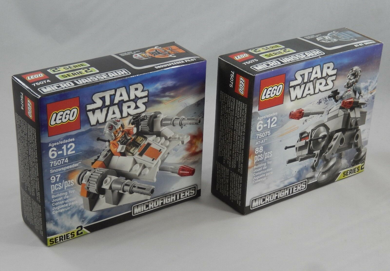 LEGO Star Wars 75075 75074 Snowspeeder & AT-AT Set Pair NEW  Factory Sealed