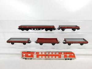 Bz962-0-5-5x-Marklin-h0-ac-baja-bordo-auto-vagones-DB-305-496-391