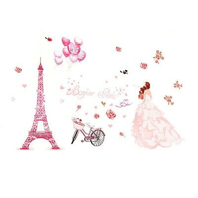 Wall Stickers Paris Eiffel Tower Romantic Vinyl Decals Mural Art Home Decoration