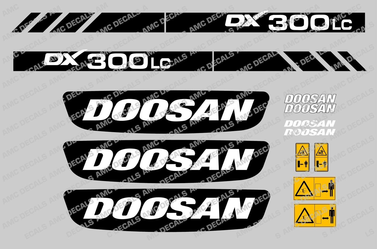 Doosan Dx300lc Digger Decal Sticker Set