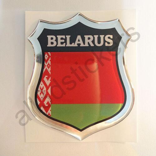 Sticker Belarus Emblem 3D Resin Domed Gel Belarus Flag Vinyl Decal Car Laptop