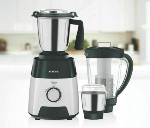 Borosil Silverline 600 Watt 220 V Mixer Grinder With 3 Jar