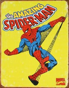 Spiderman-Retro-Tin-Metal-Sign-13-x-16in