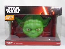 STAR WARS YODA Face Head 3D Wall Deco Light Disney Cordless LED NEW BOX WEAR