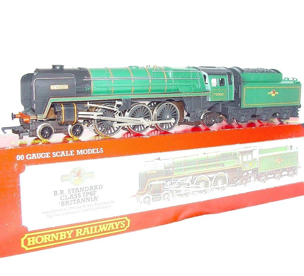 Hornby OO HO DC British Railways  BRITANNIA  Heavy STEAM LOCOMOTIVE Green MIB`80
