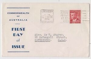 Stamp Australia 2&1/2d red Von Muller on Haslem cachet first day cover scarce
