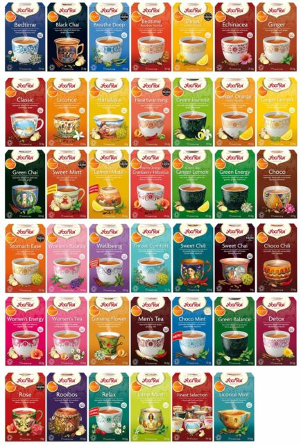 Yogi Ayurvedic Herbal Organic Teas Tea Sachets - Choose From 39 Varieties