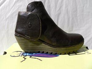 Detalles de Fly London Yogi Zapatos Mujer 40 Botines Altas Chelsea Botas UK7 Nuevo