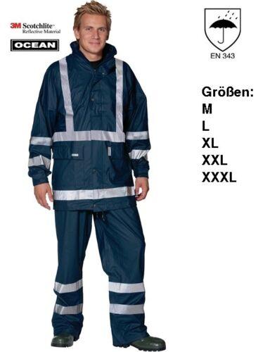 XXXL reißfest,kältebest. Bekleidung Regenbekleidung 3m Scotchlite Regenhose Comfort Ocean Gr.M,L,XL,XXL