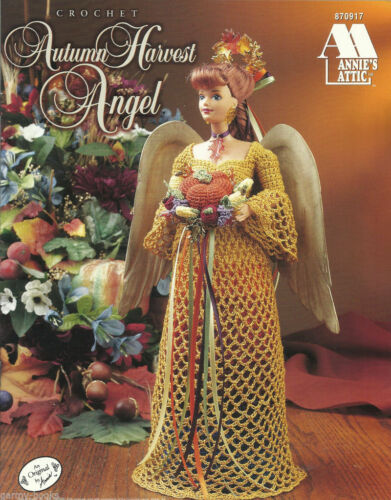 Autumn Harvest Angel Annies Attic Crochet Fashion Doll Clothing Pattern 870917