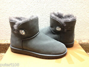 82408ce2a0b Details about UGG MINI BAILEY BLING SWAROVSKI CRYSTAL GREY GRAY US 9 / EU  40 / UK 7.5