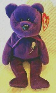TY Beanie Baby - PRINCESS DIANA Purple Teddy Bear, 1997 RETIRED MINT CONDITION