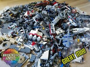 LEGO-x850pcs-1KG-100-STAR-WARS-BULK-BUILDING-PACKS-MANY-RARE-amp-PRINTED-PARTS