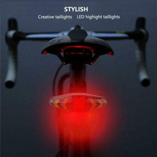 Bicycle Directional Turning Signal Light Bike Tail Rear Wireless Rechargeable