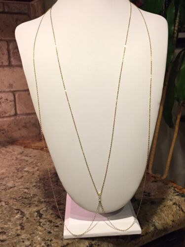 NADRI /'Salome/' Cubic Zirconia Body Chain Gold Tone