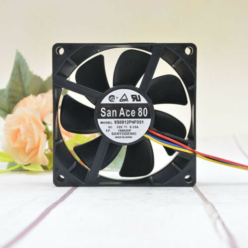 Sanyo SAN ACE 8cm 8025 12V 0.13A 9S0812P4F051 PWM mute chassis fan