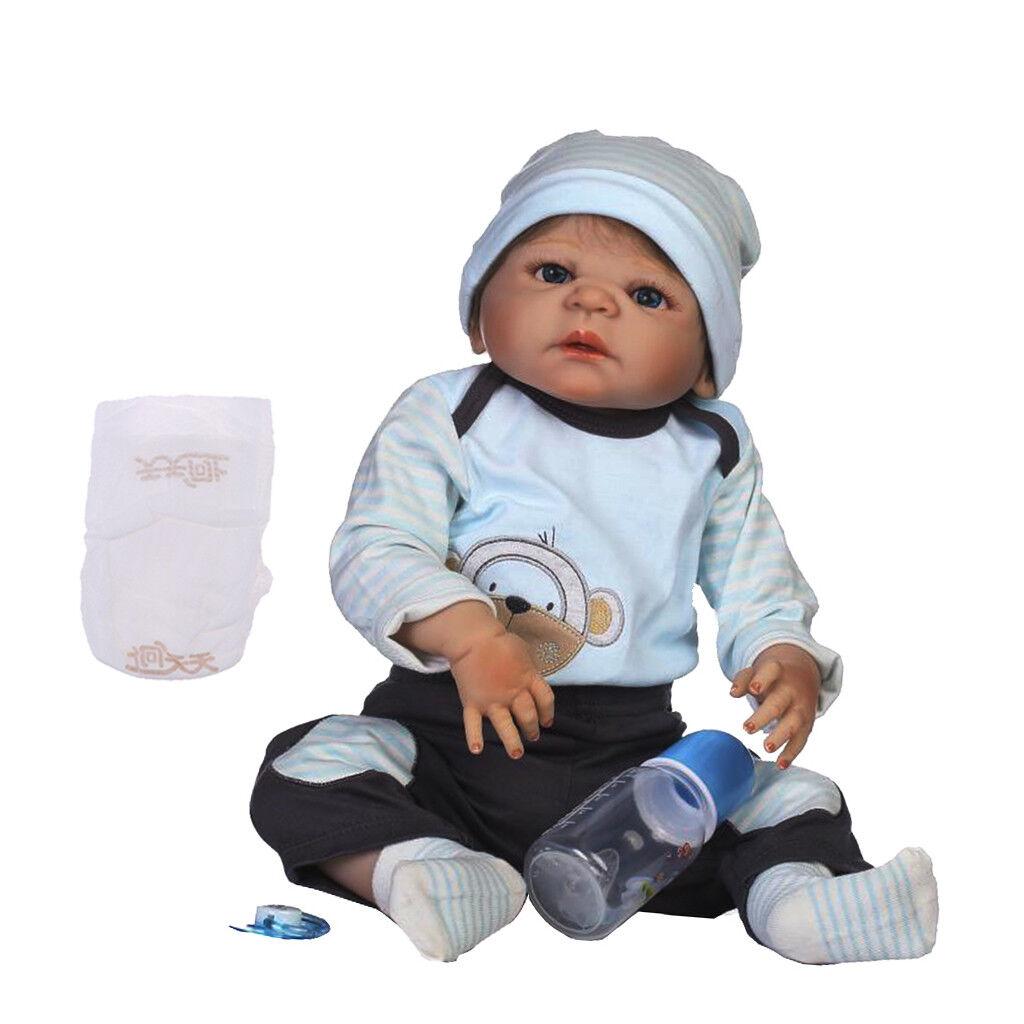 Magideal 57m in silicone VINILE bambole Reborn NEONATO BABY BAMBOLA Alive BOY