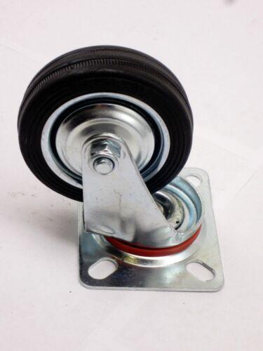 "Lot of 16 Heavy Duty Swivel Caster Wheels 3/"" Rubber Base with Top Plate Bearing"