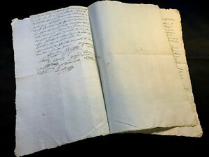 LOT-OF-TWO-LARGE-AUTOGRAPHED-CONTRACTS-1700s