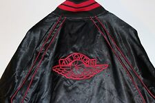 Air Jordan Retro 1 Satin Banned Bred Black Red Jacket Men's Size XXXL 3XL New