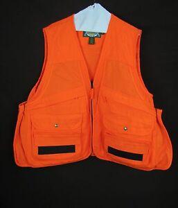 Cabela 39 s orange hunting vest reg large for Cabelas fishing vest