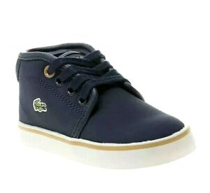 Navy Trainers Boots UK 3 Infant EUR 19